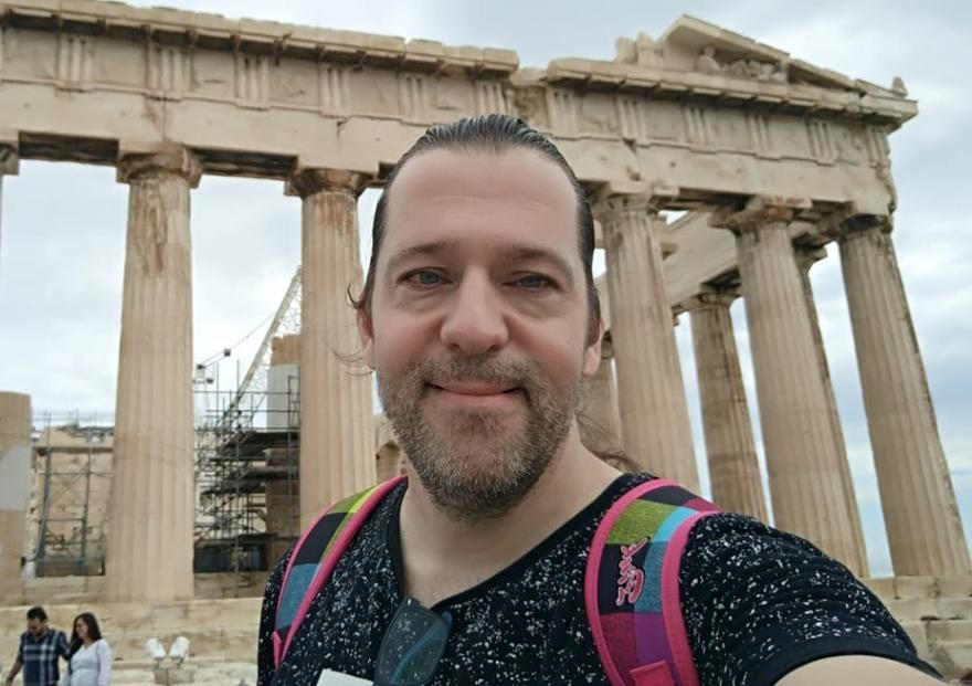 יניב לב ארי באקרופוליס - אתונה